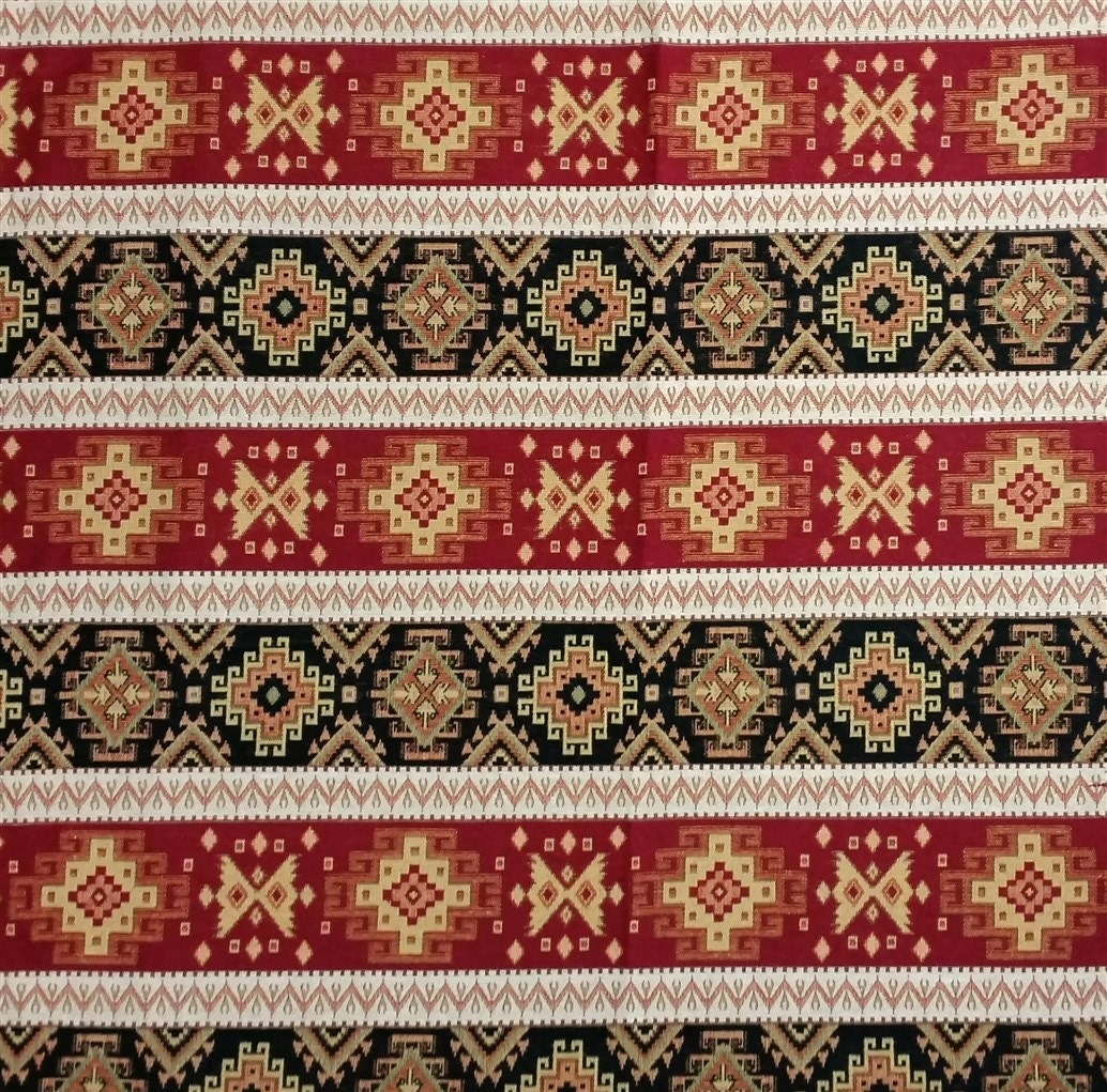 ethnic tribal style upholstery fabric aztec navajo home decor