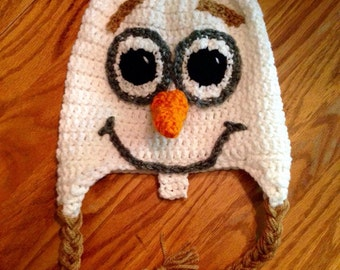 Olaf Inspired Hat - Handmade Hat - Character Hat - Costume Hat - Winter Hat - Gifts for Kids - Frozen Hat