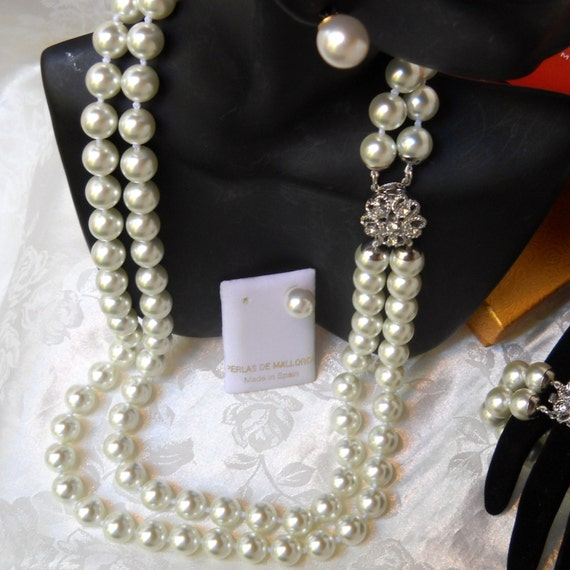 Mallorca Pearl Necklace: Majorca/Mallorca Pearl Necklace Double Strand By