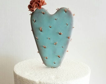 Cactus Heart Cake Topper
