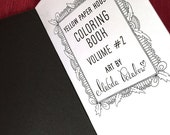COLORING BOOK Volume 2 - Traveler's Notebook Insert  5 Sizes