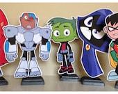 Teen Titans Go Birthday | Teen Titans Go Party | Teen Titans Go  Party Centerpiece| Teen Titans Go Decorations | Teen Titans Go  Centerpiece