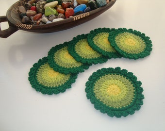 crochet coaster set of 6