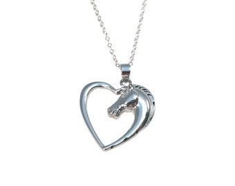 Horse Heart Love Necklace