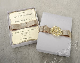 Elegant Boxed Wedding Invitation