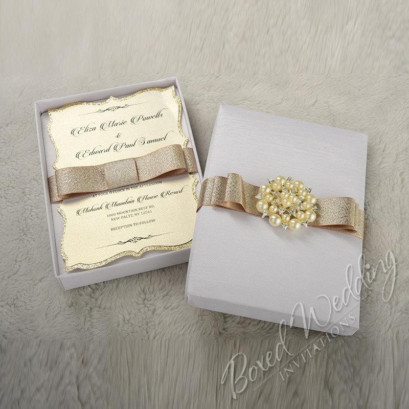 Elegant Wedding Invitation Boxes