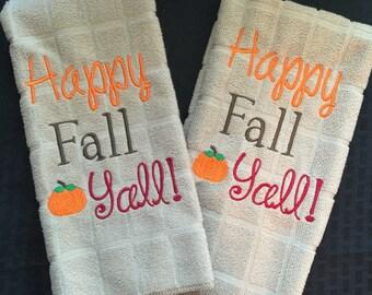 Fall monogrammed towels!