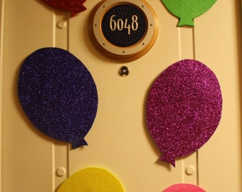 Birthday Balloons Glitter Foam Door Mangets