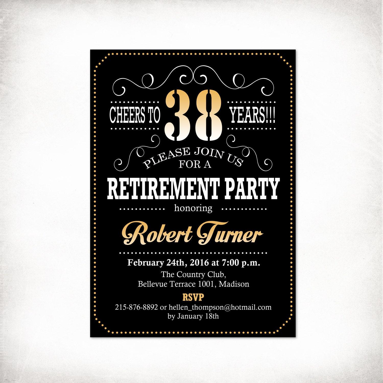 Retirement Invitation Card for great invitations template