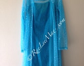 ON SALE IN Stock!! - Blue Rhinestone Embellished Adult Princess Elsa inspired Dress-AE90125-Adult queen elsa costume-Adult Halloween costume
