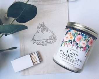 CRISP CHAMPAGNE Wood Wick Soy Candle | 16 Ounces