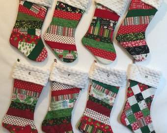 Large Quilted Christmas Stocking 15092 B or C