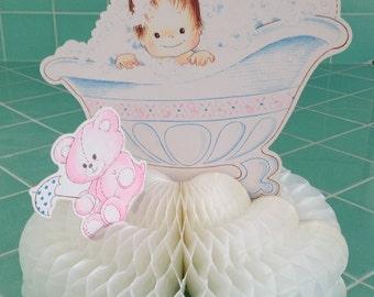 Baby Shower Honeycomb Centerpiece vintage