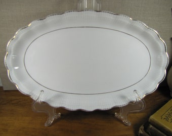 Vintage Walbrzych Narrow Serving Platter - Made in Poland