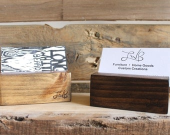 Business Card Holder, Card Organizer, Business Card Display, Handmade, Office Gift, Organizer, Made in USA, Ships from Detroit, Michigan