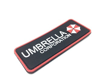 PVC Resident Evil Umbrella Corporation 3D Army Morale Chest Rubber Fastener Hook and loop backing