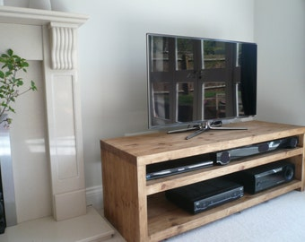 "Plank Beam solid wood tv stand 42"" ( custom made service)"