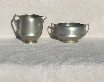 Picquot Ware Creamer and Sugar, Vintage, Rare, Discontinued, 1949, S6, C6