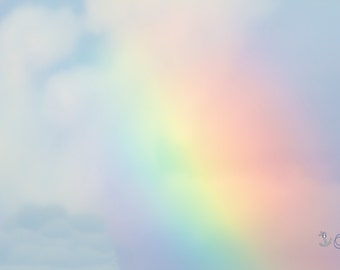 Somewhere Over the Rainbow ~ Pastel, Artwork, Photography, Cheerful, Vibrant, Baby Nursery, Childrens Room, Bathroom Decor, Bedroom Decor