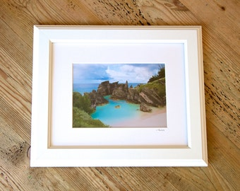 Horseshoe Bay ~ Bermuda, Framed Artwork, Coastal Home Decor, Wall Art, Tropical, Nautical, Beach Photography, Pink Sands, Signed by Joules