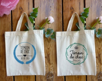 Tote bag witness - 6 icons to choose