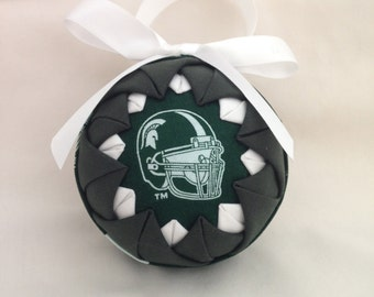 """Michigan State """"Spartan"""" Quilted Ornament"""