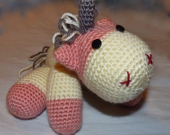 Crocheted Amigurimi Unicorn