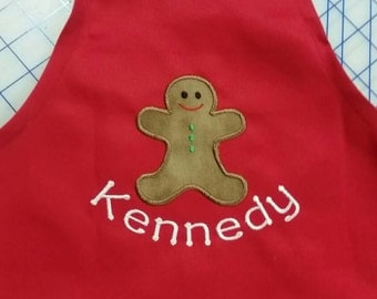 Christmas cookie decorating party? Gingerbread man apron adult size