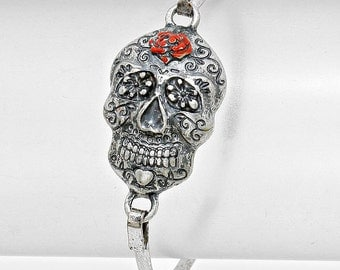 Day of the Dead Skull Hook Bracelet