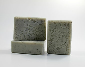Peppermint and Cambrian Blue Clay Soap, Spa Soap Bar, Natural Cold Process Soap, Cambrian Blue Clay Soap