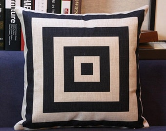 Black & White Chevron or Square pattern Knife-edge Decorative Pillow (with or without pillow form/insert) FREE SHIPPING