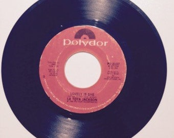 Latoya Jackson Lovely Is She and If You Feel The Funk Vintage Vinyl 45 Record Album 1980
