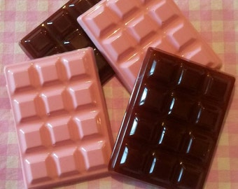 chocolate bars in resin 4 PCs
