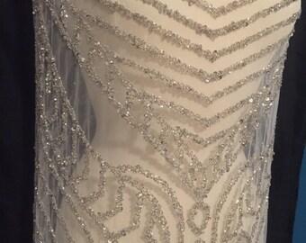 Reserve Order For Mary Rhinestone Beaded Fabric Dress Panels