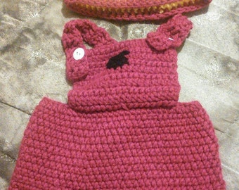 Infant Minion Overalls and Beanie Set (0-3 month)