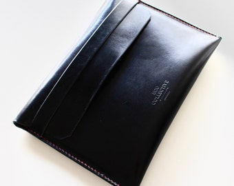 iPad air case gift for him leather black handmade in Australia