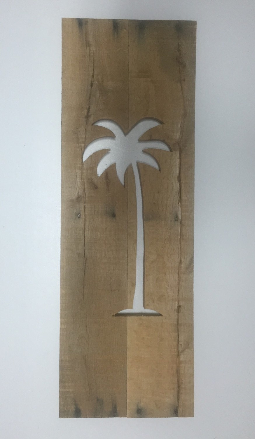 Palm Tree Cutout From Reclaimed Wood Wall Art Home Decor