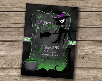 Witch Girls/Ghouls Night Out Invitation