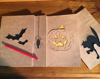 Swanky Halloween notebooks