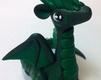 Emerald green striped dragon