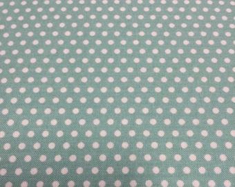 Moda Farmhouse Teal Dot Fabric By the yard