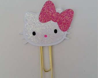 Kitty planner clip, Kitty, Planner clip, Planner, Paper clip, Journal, Stationery