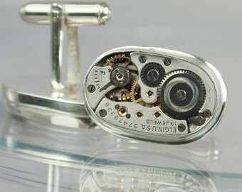 Watch Movement Vintage Elgin Cufflinks