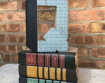 BOOK LETTER Q...Custom Made Just For YOU!!!!  Letters created from actual Hardcover Books!!
