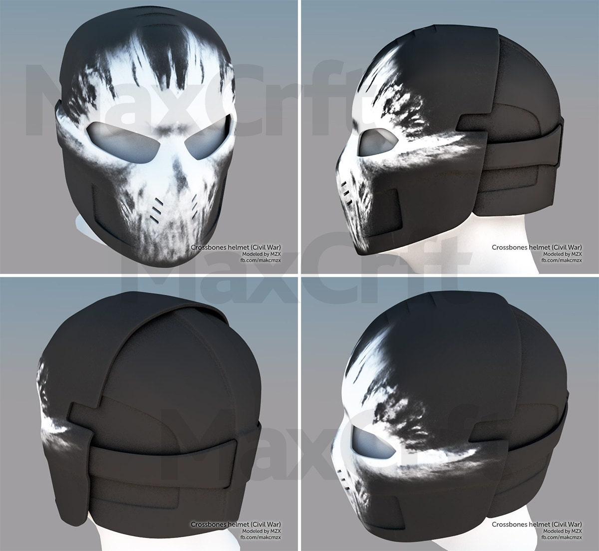 Crossbones helmet captain america civil war from maxcrft on this is a digital file pronofoot35fo Image collections