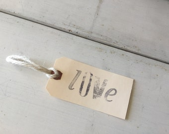 LOVE Hand-stamped Gift Tag | Set of 6