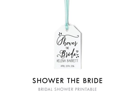 Wedding Shower Favor Tag Template : Bridal Shower Favor Tag Template, Shower the Bride Tag, Favor Tag ...