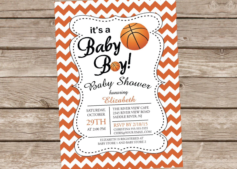 basketball baby shower invitation sport sports baby boy