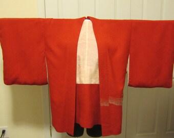 Vintage Red Kimono Jacket