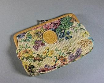 Tapestry Purse, Bagland, Kiss Clasp, Clutch Purse